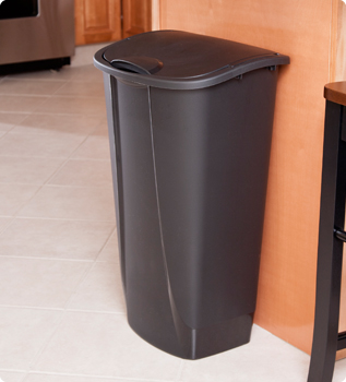 11 Gallon Swing-Top Wastebasket
