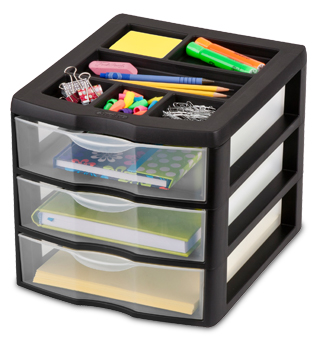Medium 3 Drawer Desktop Unit