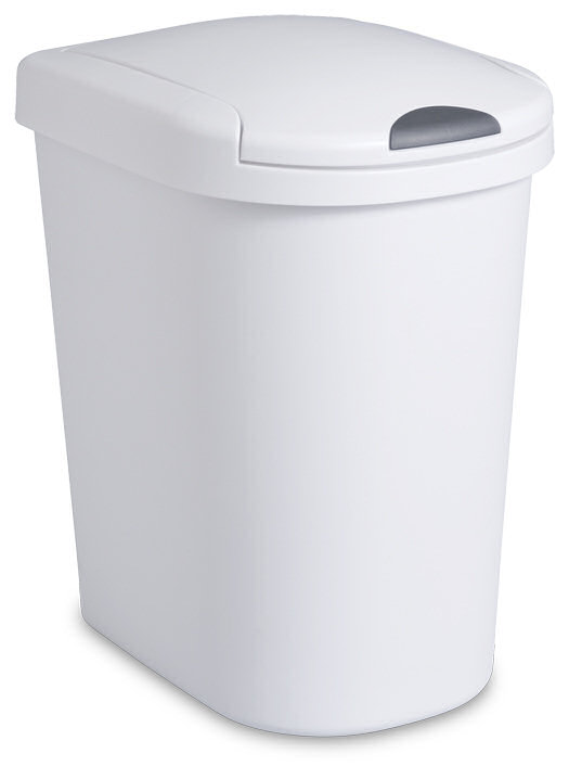 Sterilite 1098 7 3 Gallon Ultra Clicktop Wastebasket